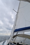 Reefed main sail to go fast