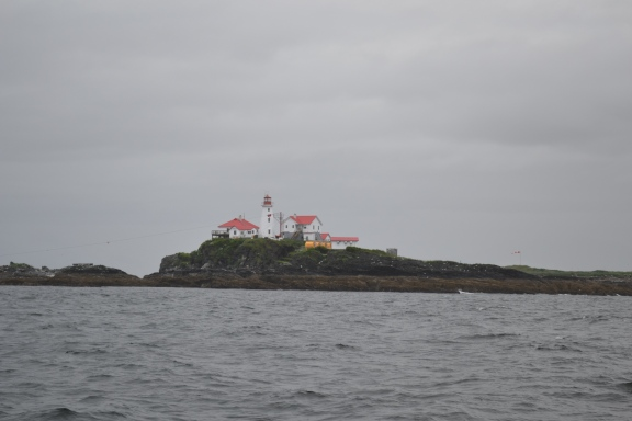 Dundas Islands B.C. light-house with red roof
